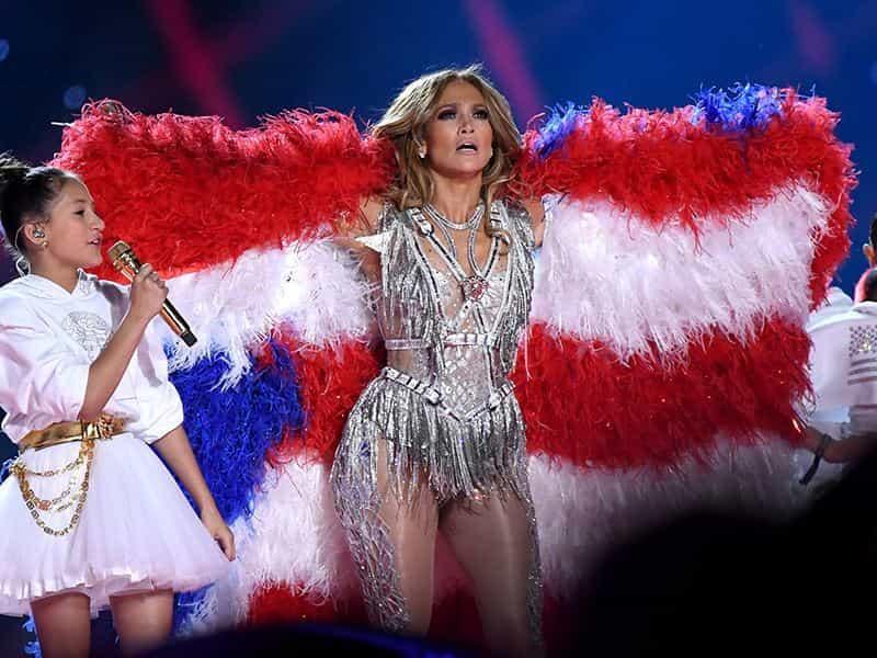 Jennifer Lopez compartió el escenario con su hija.