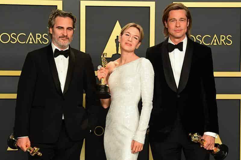 Joaquin Phoenix, Renée Zellweger y Brad Pitt