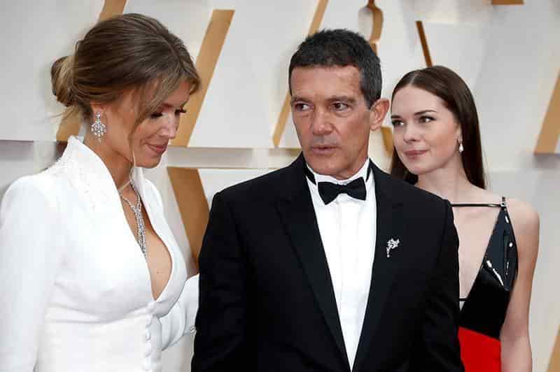 Antonio Banderas, su pareja e hija