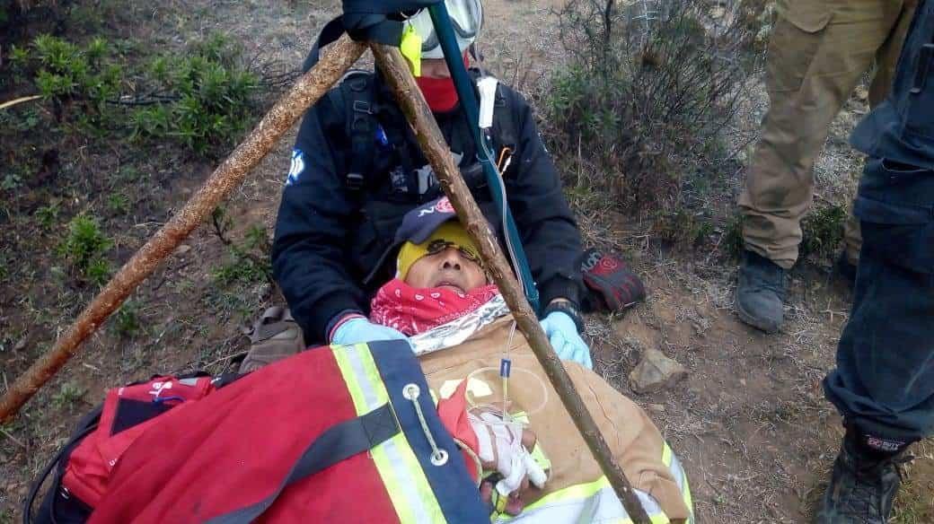 El afectado fue ubicado en la meseta del Cerro de la Mota con datos de hipotermia.