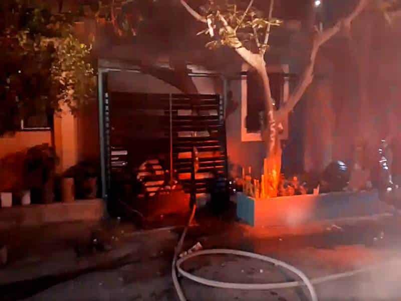 La explosión se debió a una fuga de gas en García.