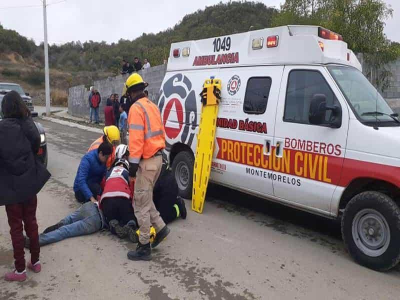 El accidente movilizó a los puestos de socorro.