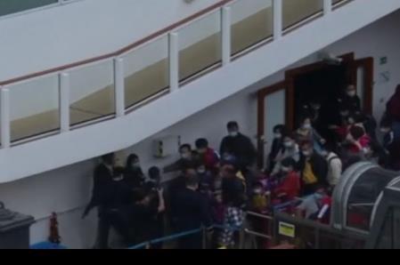 No aplica desalojo a mexicanos de crucero