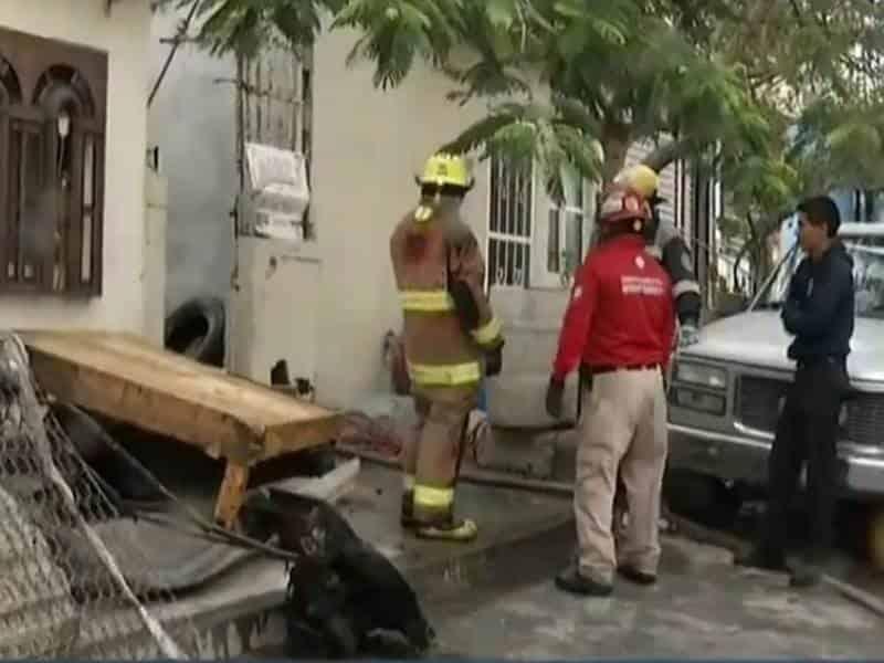 El incendio se registró en una vivienda de la colonia Topo Chico