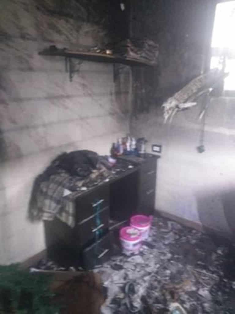 EL incendio se registró en un domicilio del municipio de Apodaca