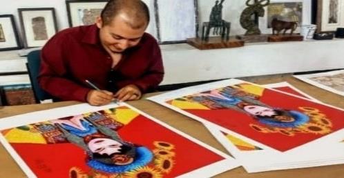 Joven artista cubano expone en México