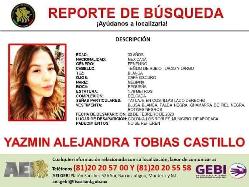 La mujer desaparecida en Apodaca confesó que andaba de parranda