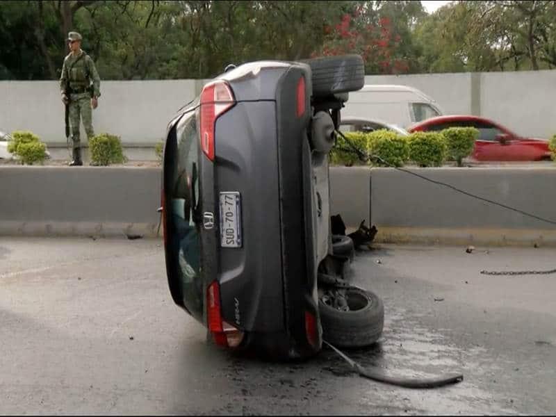 Perdó el contról de su auto al dormitar al volante