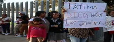 Presuntos asesinos de Fátima piden protección