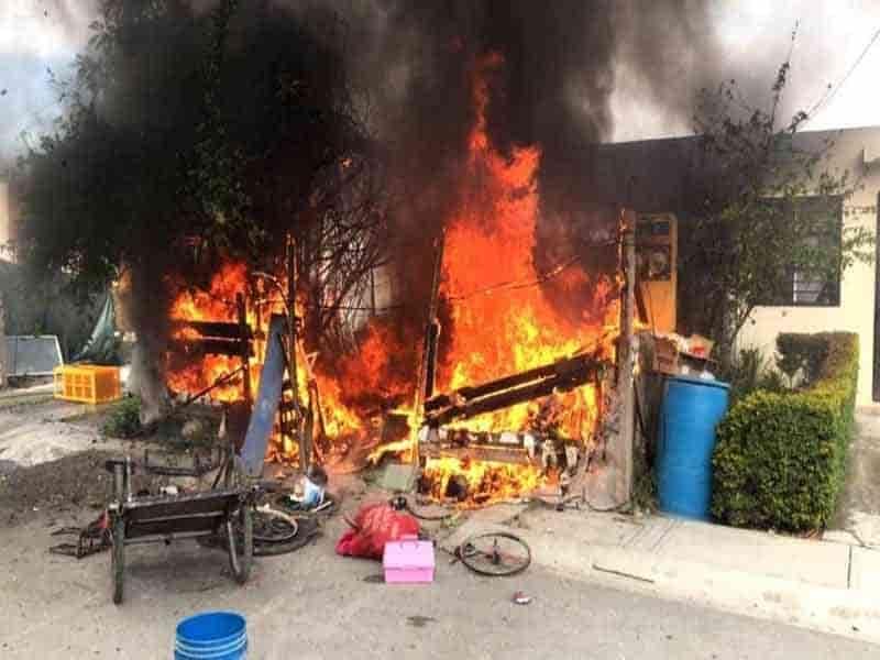 EL incendio se registró en Montemorelos