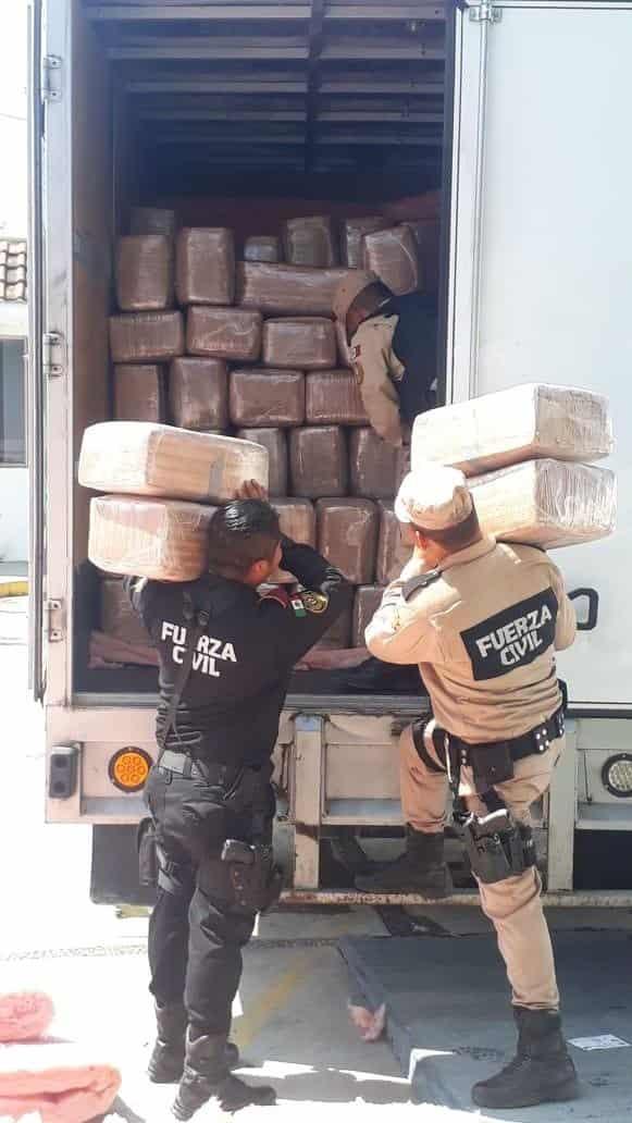 Se decomisaron 2.5 toneladas de marihuana