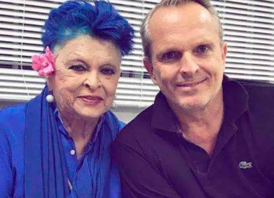 Lucía Bosé y su hijo Miguel Bósé