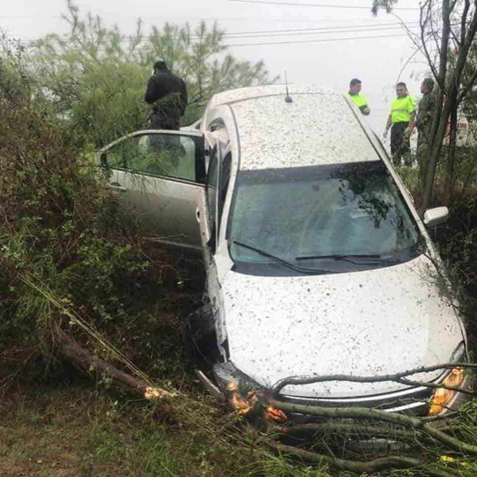 La lluvia provocó el accidente