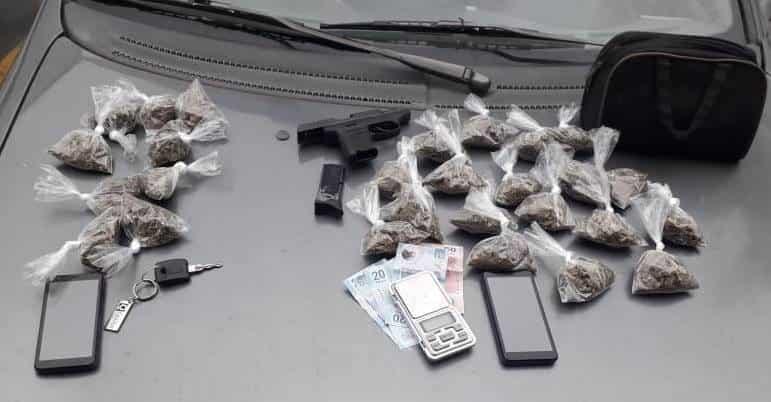Traían marihuana y son sospechosos de robo
