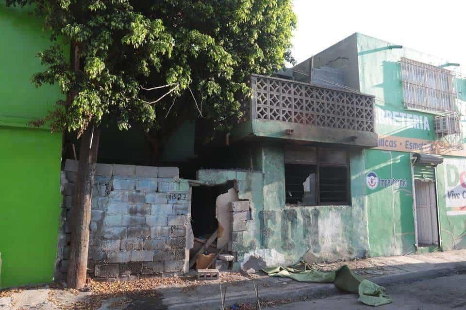 El incendio se registró en una vivienda abandonada