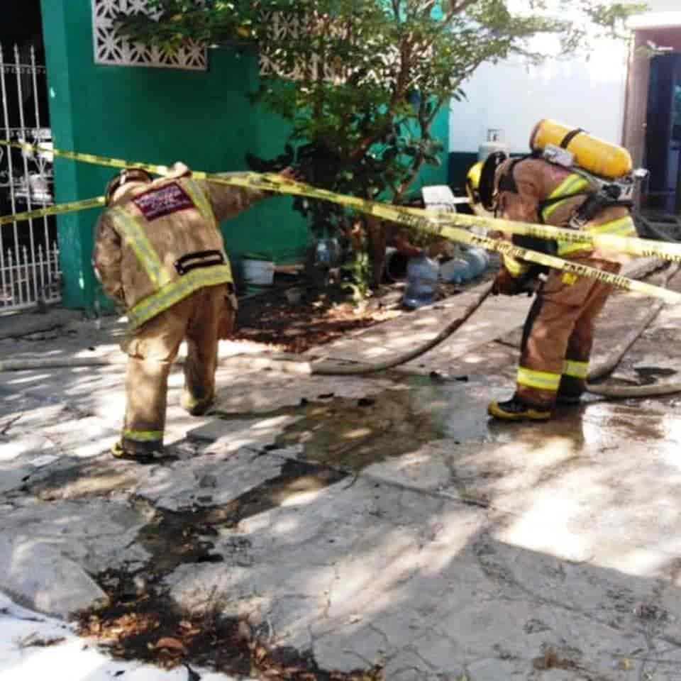 La casa incendiada se ubica en Montemorelos