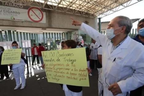 Enfermeras exigen insumos para atender coronavirus