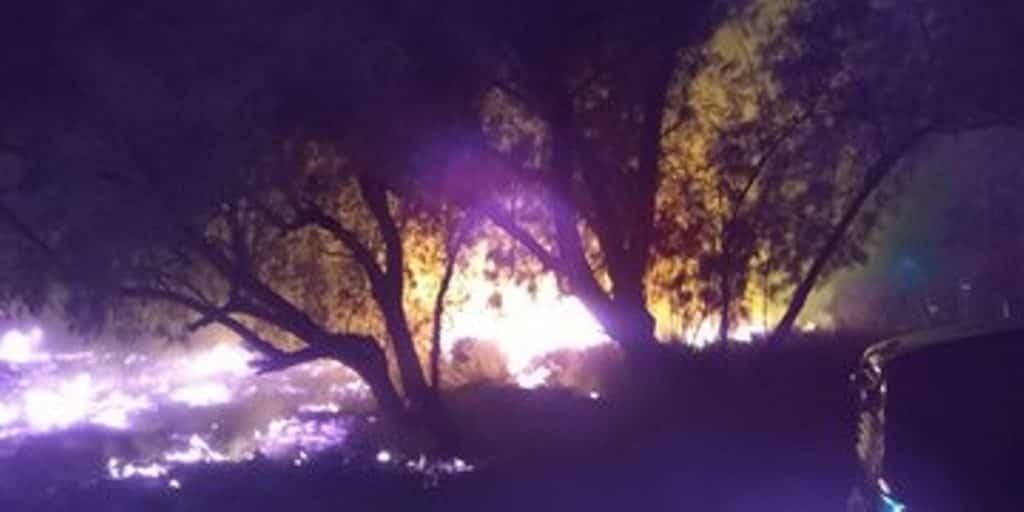 El incendio de un predio baldío se reportó en Apodaca