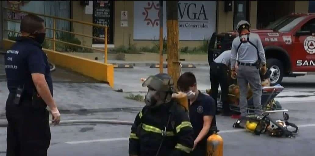 El conato de incendio dejó un bombero lesionado y daños materiales