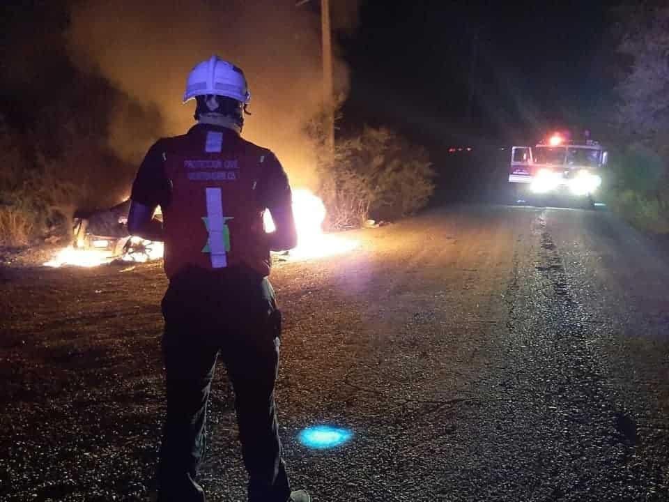 Se reportó el incendio de un vehículo abandonado