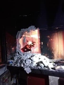 El incendio se registró en las instalaciones de una casa de cambio