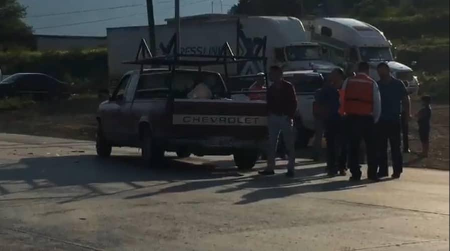 La conductora terminó con diversas lesiones, cuando su vehículo fue impactado por una camioneta