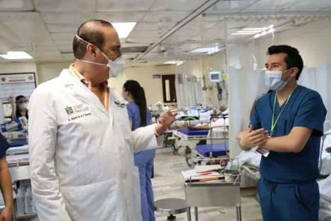 A 60 contagios llegó personal de salud en el Estado