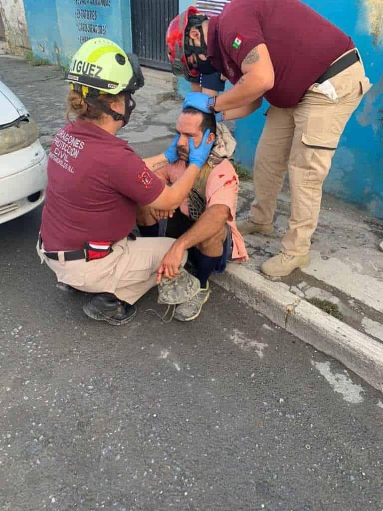 Terminó con lesiones de consideración, después de ser atropellado, por un automóvil