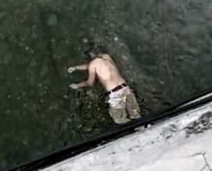 Encontraron al hombre sin vida en medio del cauce del Río Santa Catarina, municipio de  Juárez