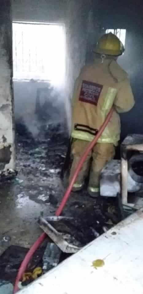 El domicilio fue incendiando en forma intencional
