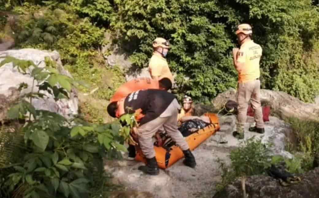 Realizaba ejercicio en lo alto del cerro de La Silla, donde se desbarrancó de una altura de tres metros