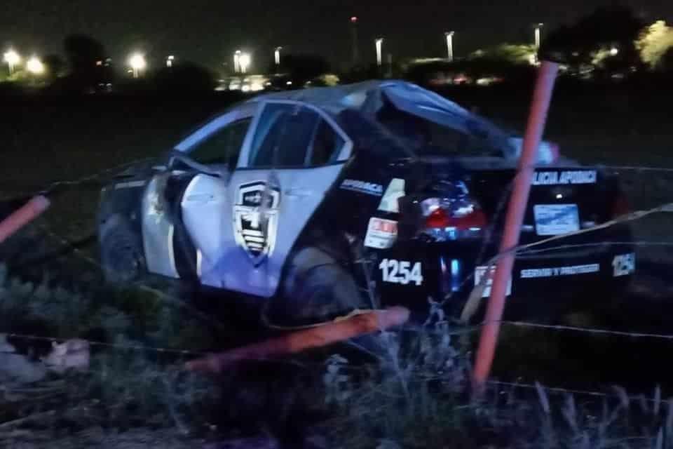 El policía de Apodaca murió tras sufrir un accidente vial cuando participaba en una persecución