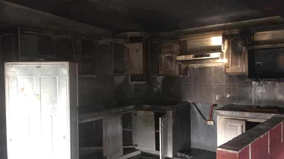 El incendio se registró en un departamento en Montemorelos