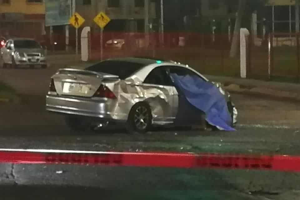 Perdió la vida en forma instantánea, después de ser impactado por otro vehículo