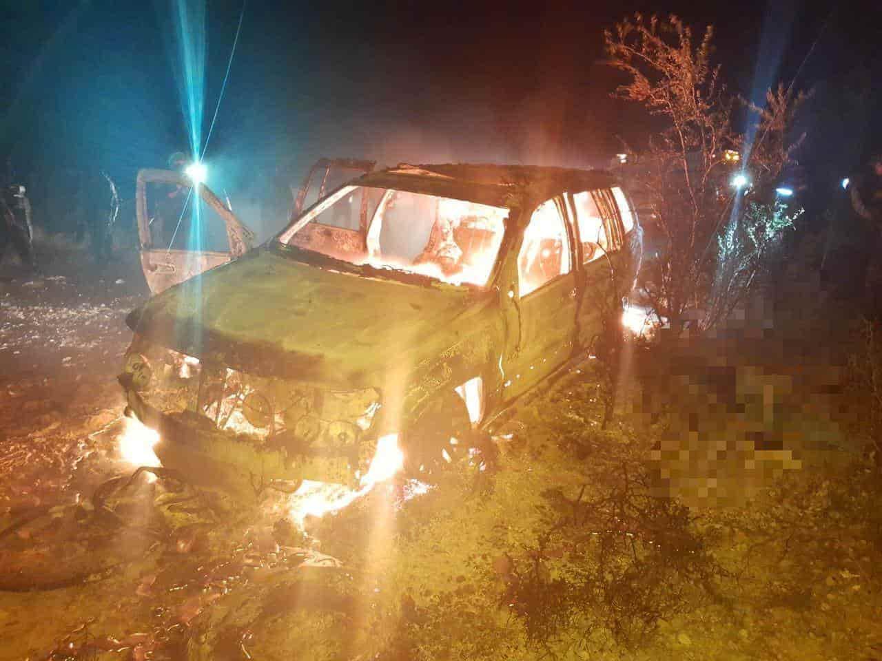 Dos muertos, ambos calcinados, dejó un enfrentamiento entre civiles armados y elementos de Fuerza Civil