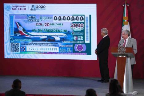 Reanudan venta de billetes de lotería para rifa de avión