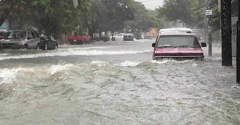 La Tormenta Tropical Hanna colapsó las vialidades de la zona metropolitana de Monterrey