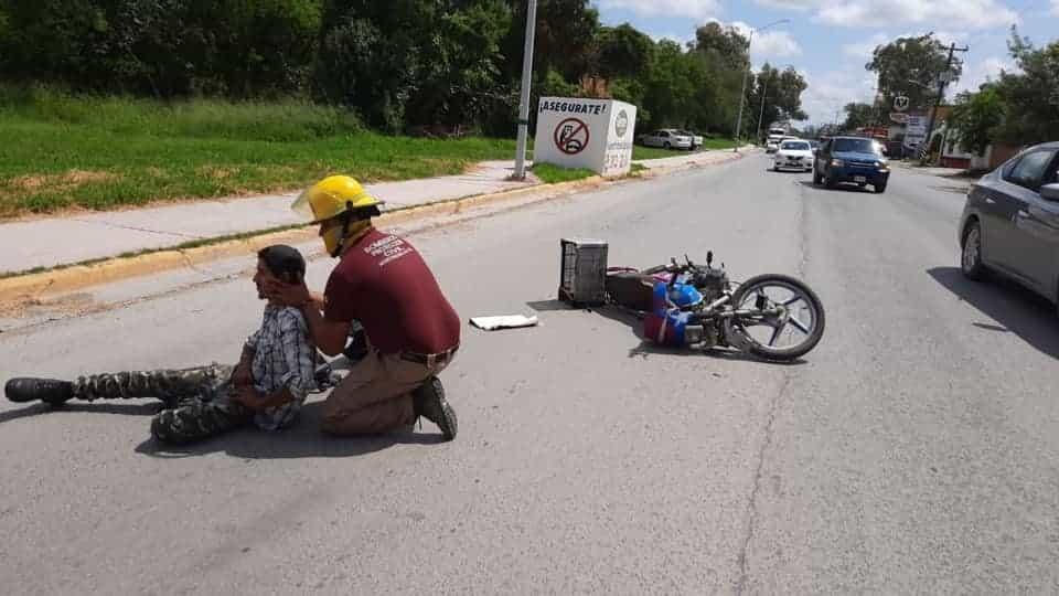 El motociclista terminó con lesiones de consideración