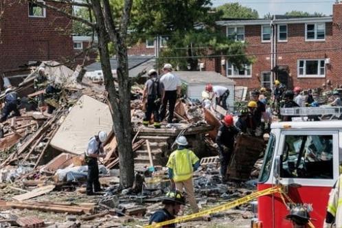 Destruye explosión casas en Baltimore