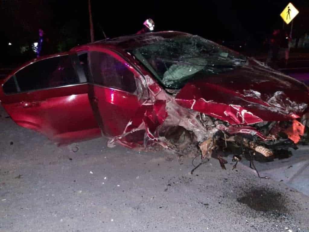 El conductor se salvó de morir luego de volcar su auto