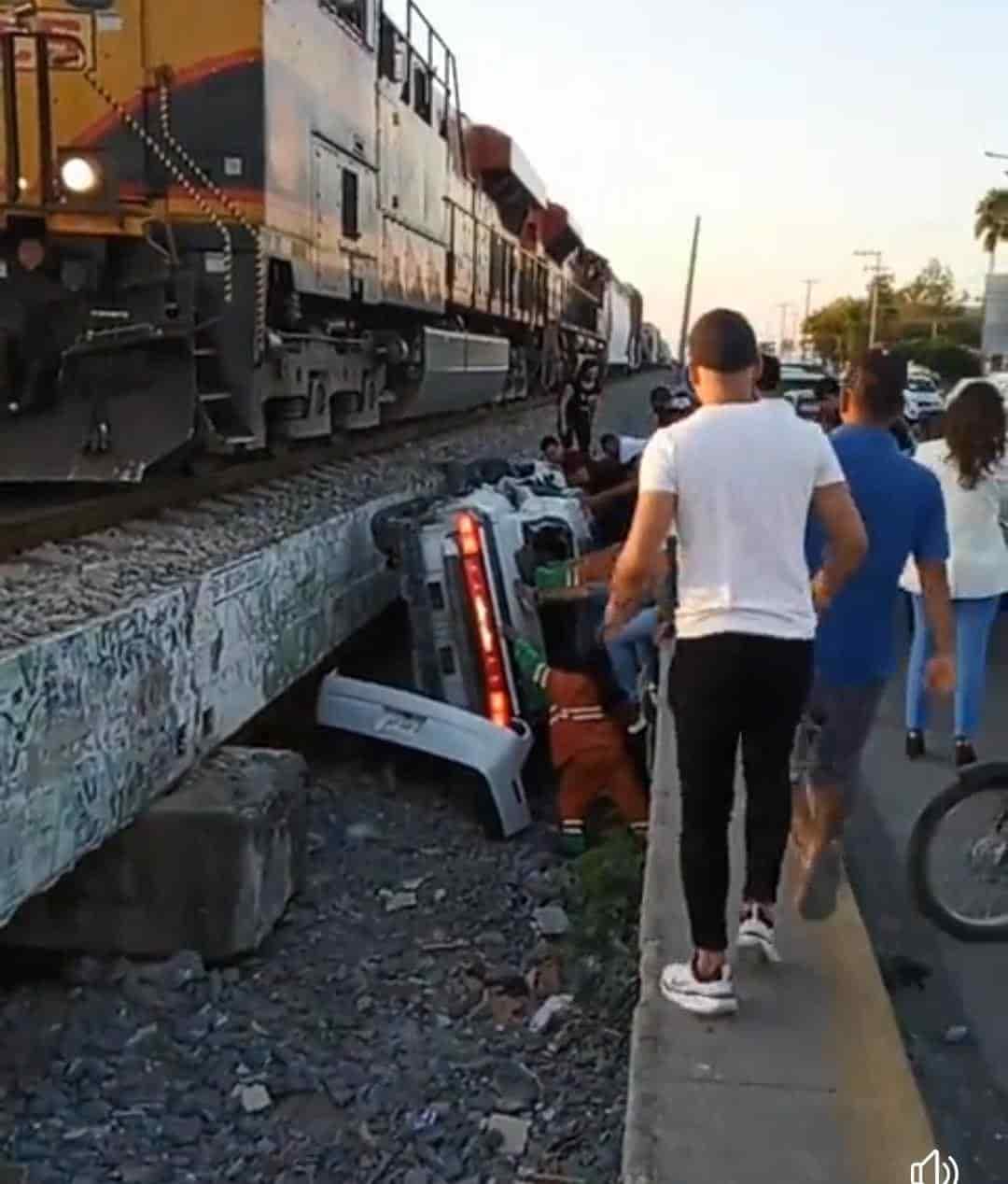 El conductor de un vehículo quedó lesionado y prensado
