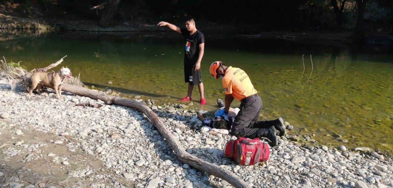 Se atoró con unas varillas en una zona profunda del Río La Silla y se ahogó