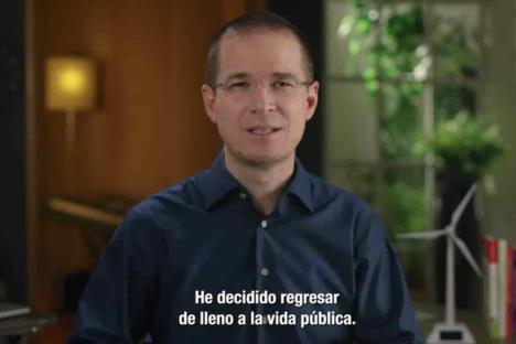 Ricardo Anaya dice que regresa de lleno a la vida pública