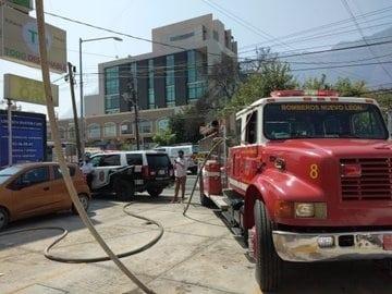 La explosión se registró en el interior de la estética en San Pedro