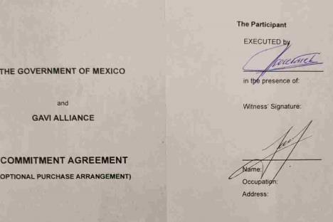 Ebrard envía a Ginebra compromiso para compra de vacunas