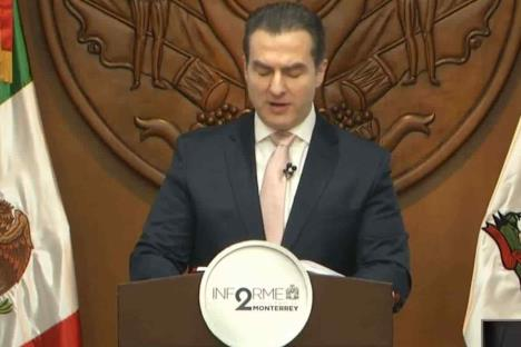 Rinde Adrián de la Garza su segundo informe de Gobierno