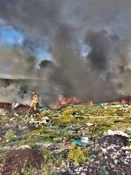 En Linares se reportó el incendio del Relleno Sanitario