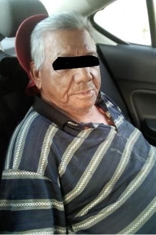 El narco-abuelito fue sorprendido junto a una mujer con diversas dosis de mariguana