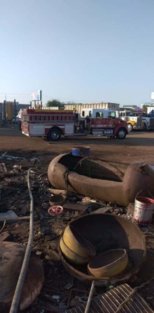 Se reportó el incendio de una empresa recicladora de metales