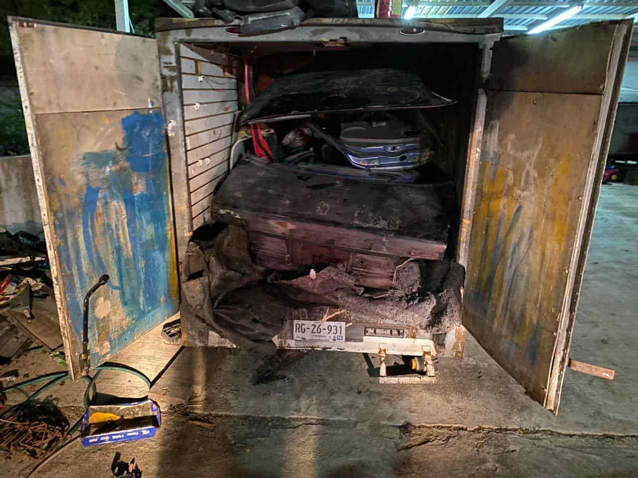 En el cateo encontraron diversas autopartes y vehículos con reporte de robo